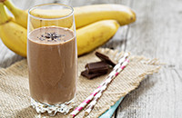 Chocolate banana coconut smoothie