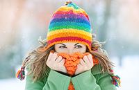 Mujer en la nieve