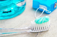 Fluoridated toothpaste and floss are examples of topical fluoride.