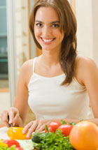 Being vegetarian can affect oral health